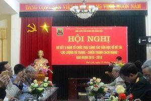 Sơ kết 5 năm Tổ chức trại sáng tác văn học về đề tài 'Lực lượng vũ trang - Chiến tranh cách mạng'