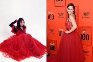 Mẫu váy đỏ đậm chất Giáng sinh được dàn mỹ nhân Hàn cho đến 'mẹ rồng' Emilia Clarke say đắm
