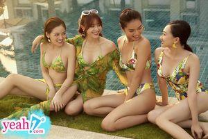 Lan Ngọc diện bikini lộ hình xăm cùng 'hội chăn chuối' trong 'Gái già lắm chiêu 3'