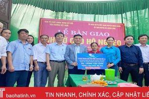210 triệu đồng hỗ trợ xây nhà ở cho 3 hộ nghèo khó ở Nghi Xuân