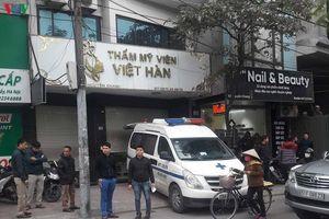 Người đàn ông tử vong trong Thẩm mỹ viện Việt Hàn (Hà Nội)