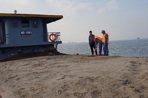 Cảnh sát biển tạm giữ 600m3 cát không rõ nguồn gốc