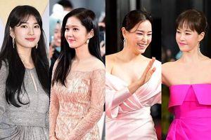 'Thảm đỏ 'SBS Drama Awards 2019': Jang Nara áp đảo nhan sắc Bae Suzy và Hoa hậu Lee Honey