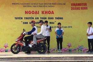 TP. Uông Bí chú trọng bảo đảm ATGT cho học sinh