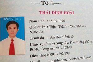 Khai trừ Đảng cựu Trưởng phòng Cảnh sát KT Lai Châu dùng bằng giả