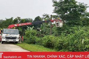 Có sự hỗ trợ của điện lực, Hương Sơn phấn đấu cán đích huyện nông thôn mới trong năm 2020