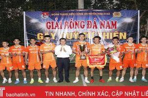 Giải bóng đá Công an huyện Thạch Hà quyên góp gần 120 triệu đồng