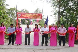 Cục THADS tỉnh Hậu Giang bàn giao 2 cây cầu nông thôn ở huyện Long Mỹ