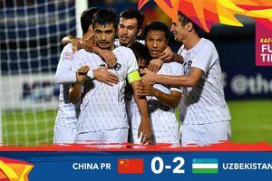 Video bàn thắng U23 Trung Quốc 0-2 U23 Uzbekistan