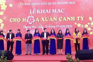 Quận Hoàng Mai: Khai mạc chợ hoa xuân Canh Tý 2020