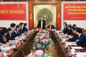 Phó Thủ tướng Thường trực Trương Hòa Bình làm việc với lãnh đạo tỉnh Thanh Hóa