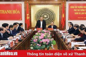 Phó Thủ tướng Thường trực Chính phủ Trương Hòa Bình thăm và làm việc tại Thanh Hóa