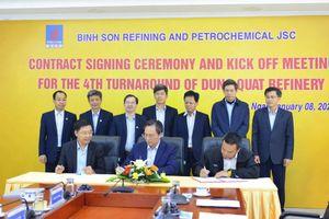 BSR ký hợp đồng Bảo dưỡng tổng thể lần thứ 4 NMLD Dung Quất