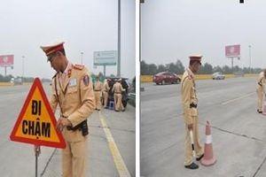 Cảnh sát giao thông triển khai các chốt kiểm tra nồng độ cồn trên đường cao tốc