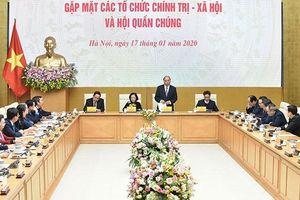 Thủ tướng gặp mặt các tổ chức chính trị - xã hội và hội quần chúng