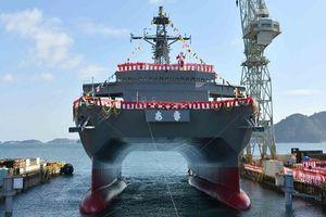 Nhật Bản hạ thủy tàu 'hai chân' cực độc chuyên phục vụ hậu cần