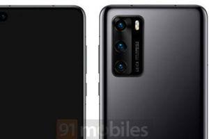 Lộ diện hình ảnh chính thức của Huawei P40 với camera selfie kép