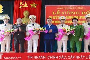 Điều động thêm 11 đồng chí về xã, Vũ Quang phủ kín công an chính quy 100% địa bàn
