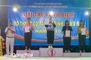 Huyện Vĩnh Cửu dẫn đầu Giải trẻ và vô địch võ thuật cổ truyền tỉnh 2020