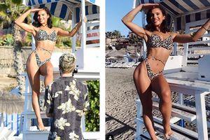 Mỹ nhân Anh gợi cảm khó cưỡng với bikini họa tiết da báo hậu giảm cân