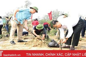Địa phương đầu tiên Hà Tĩnh ra quân trồng 12 vạn cây xanh mừng Xuân mới