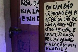 Về quê ăn Tết, nam sinh khóa cửa cẩn thận kèm theo lời nhắn gửi hài hước đến các tên trộm