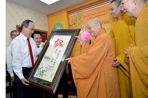 Bí thư Thành ủy TPHCM Nguyễn Thiện Nhân thăm, chúc tết các tổ chức, chức sắc tôn giáo