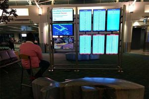 Thèm game, nam thanh niên chiếm trọn một màn hình sân bay để chơi Apex Legends