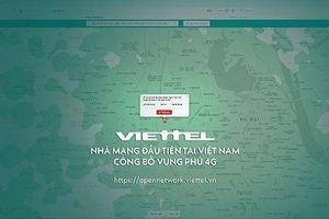 Viettel công bố bản đồ vùng phủ sóng của mạng di động 4G