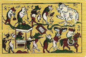 Xem tranh Đông Hồ 'Đám cưới chuột' nhân năm Canh Tý