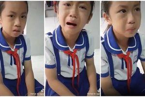 Học sinh tiểu học 'gây bão' mạng xã hội vì khóc giùm bạn bị đánh