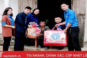 Tuổi trẻ Hà Tĩnh huy động gần 7,5 tỷ đồng trao quà tết cho hộ nghèo, gia đình chính sách