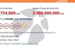 Kết quả xổ số Vietlott Power 6/55 tối ngày 23/1/2020 mới nhất: Sau người vừa trúng hơn 6 tỉ, ai sẽ 'ẵm' tiếp hơn 45 tỉ đồng?