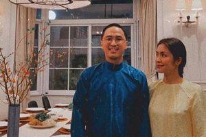 Tăng Thanh Hà khoe nhan sắc đẹp mặn mà bên cạnh Louis Nguyễn trong bữa tiệc ngày 29 Tết của 'gia đình triệu đô'