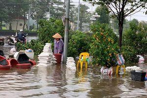 Bắc Giang ngập nước chiều 30 Tết, dự báo mưa lớn sẽ còn tiếp tục
