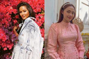 H'Hen Niê mùng 2 Tết diện đồ cá tính, Minh Hằng mặc áo dài hồng gấm
