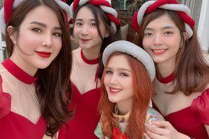 Về nhà chồng sắp cưới chúc Tết, hotgirl Trang Phạm tự tin 'đọ sắc' cùng em họ Diệp Lâm Anh