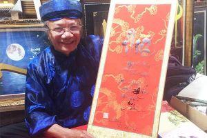 Ông đồ 10 năm viết thư pháp tặng người Sài Gòn