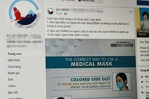 Tin đồn đeo khẩu trang ngược để ngừa virus Vũ Hán tràn lan MXH Việt