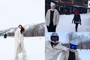 Chuyện showbiz: Hồ Ngọc Hà vui vẻ đi trượt tuyết cùng Kim Lý dịp Tết