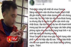 Công an huyện Thạch Thất xử lý một trường hợp đăng tin sai sự thật về dịch virus Corona