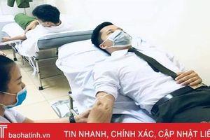 3 chiến sỹ Công an Hà Tĩnh hiến máu cứu người