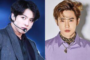 Jungkook, Suho trông điển trai khi để tóc rẽ ngôi lộ trán