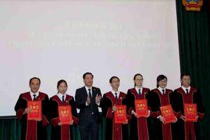 TAND Tp Hồ Chí Minh công bố quyết định bổ nhiệm Thẩm phán và Chánh án TAND cấp huyện