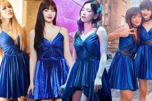 Thiều Bảo Trâm 'đụng hàng' đầm Saint Laurent với Taeyeon và Joy (Red Velvet)