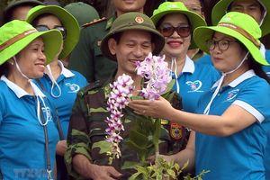 Đảo đá Long Châu rực rỡ muôn sắc hoa giữa biển khơi Tổ quốc