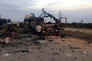 Trúng tên lửa Syria, đoàn xe bọc thép Thổ Nhĩ Kỳ nát vụn khi chưa kịp tham chiến