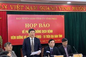Phó Chủ tịch Vĩnh Phúc: Quyết không để lây lan Covid-19 cho Hà Nội