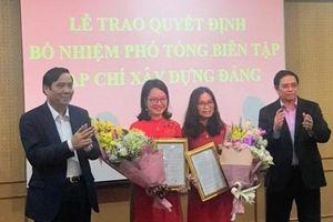 2 Phó Tổng Biên tập Tạp chí Xây dựng Đảng mới được bổ nhiệm qua thi tuyển