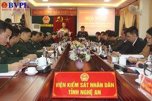 Khối nội chính - Lực lượng vũ trang tỉnh Nghệ An ký kết giao ước thi đua
